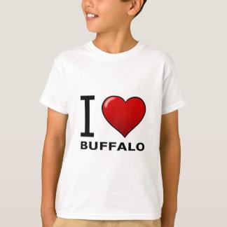 私は水牛、NY -ニューヨーク--を愛します Tシャツ