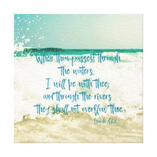 私は水聖書の詩によってtheeとあります キャンバスプリント