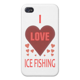 私は氷の魚釣りを愛します iPhone 4/4S ケース