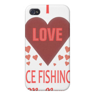 私は氷の魚釣りを愛します iPhone 4 CASE