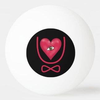 私は永久に注目しますハートUの永遠を愛します 卓球ボール