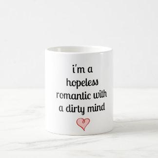 私は汚れた心との絶望的なロマンチックです コーヒーマグカップ