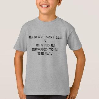私は汚れて、IT.Iをです私によってが想定されている…子供好みます Tシャツ