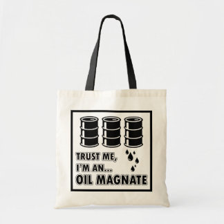 私は油の権力者です トートバッグ