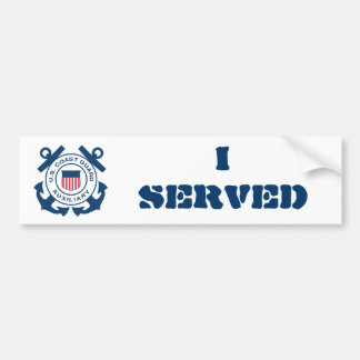 私は沿岸警備隊の補助者に役立ちました バンパーステッカー