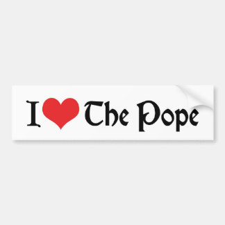 私は法皇バンパーステッカーを愛します バンパーステッカー