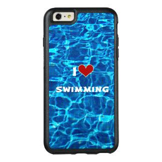 私は泳ぐことを愛します オッターボックスiPhone 6/6S PLUSケース