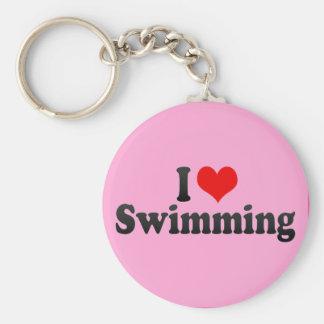私は泳ぐことを愛します キーホルダー