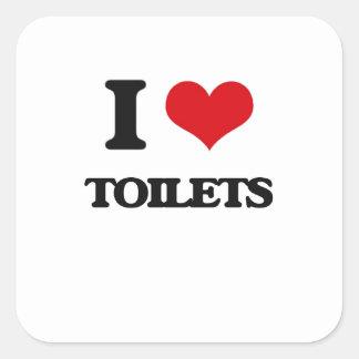 私は洗面所を愛します スクエアシール