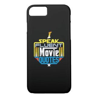 私は流暢な映画引用文の電話箱を話します iPhone 8/7ケース