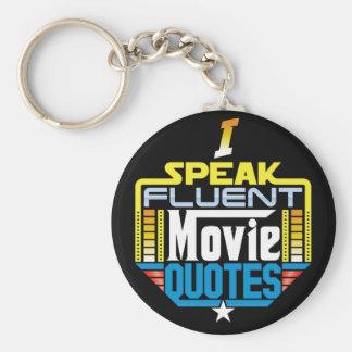 私は流暢な映画引用文Keychainを話します キーホルダー