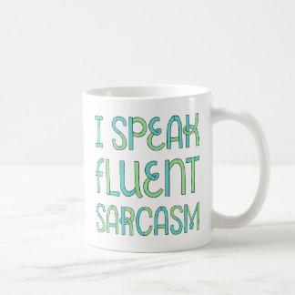 私は流暢な皮肉のマグを話します コーヒーマグカップ