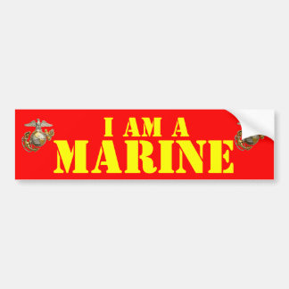 私は海兵隊員です バンパーステッカー