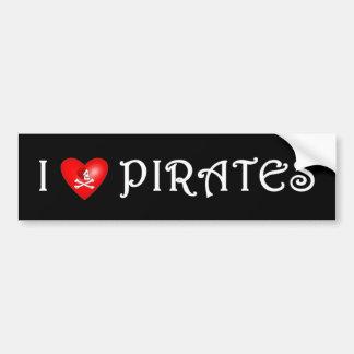私は海賊を(3)愛します バンパーステッカー