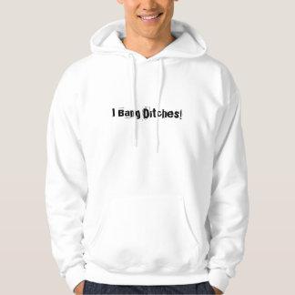 """""""私は溝を強打します! """"Snowmobilers.comのフード付きスウェットシャツ パーカ"""