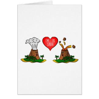 私は溶岩-科学のバレンタインデーカードにあります カード