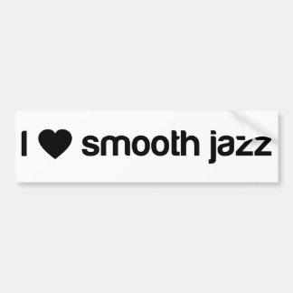 私は滑らかなジャズを愛します バンパーステッカー