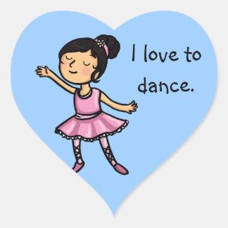 私は漫画のバレエダンサーを踊ることを愛します ハートシール