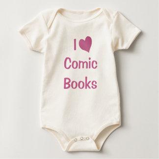 私は漫画本を愛します ベビーボディスーツ