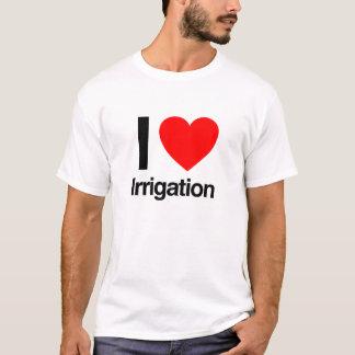 私は潅漑を愛します Tシャツ