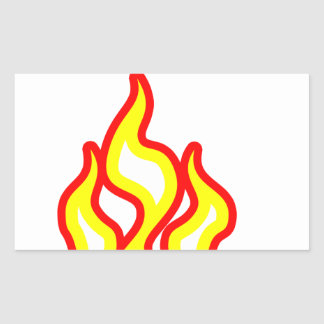 私は火にあります! 長方形シール