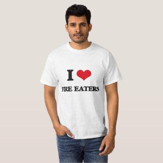 私は火食べる人を愛します Tシャツ