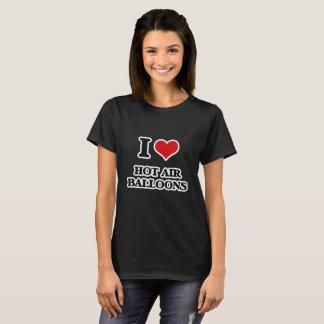 私は熱気の気球を愛します Tシャツ