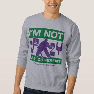 私は熱狂するではない、おもしろいなホッケーのゴールキーパーのスエットシャツではないです スウェットシャツ