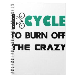 私は熱狂するのの自転車燃焼させるために循環します ノートブック