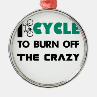 私は熱狂するのの自転車燃焼させるために循環します メタルオーナメント