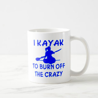 私は熱狂するの燃焼させるためにカヤックを漕ぎます(x2) コーヒーマグカップ