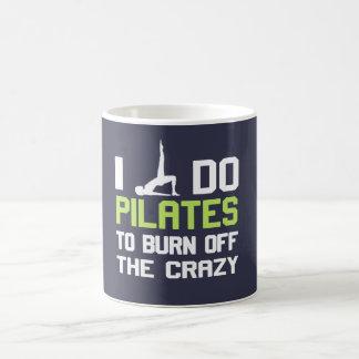 私は熱狂するの燃焼させるためにPilatesをします コーヒーマグカップ