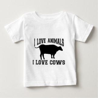 私は牛を愛します ベビーTシャツ