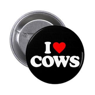 私は牛を愛します 5.7CM 丸型バッジ