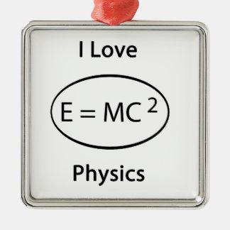 私は物理学を愛します メタルオーナメント