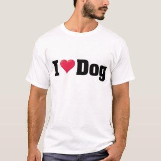 私は犬の黒を愛します Tシャツ