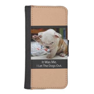 私は犬のiPhone 5のウォレットケースを放ちました iPhoneSE/5/5sウォレットケース