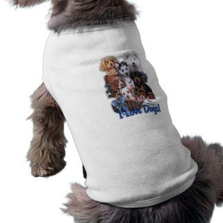 私は犬のTシャツを愛します ペット服