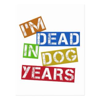 私は犬年に死んでいます ポストカード