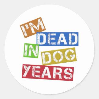私は犬年に死んでいます ラウンドシール