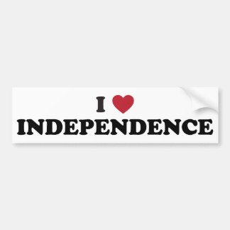 私は独立ミズーリを愛します バンパーステッカー