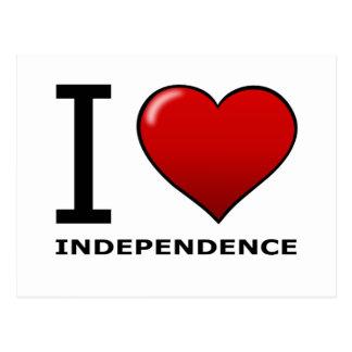 私は独立、MO -ミズーリ--を愛します ポストカード