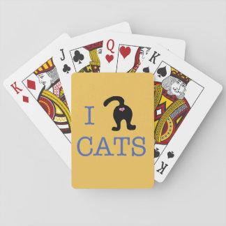 私は猫のトランプのお尻のかわいいユーモアを愛します トランプ