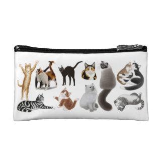 私は猫の化粧品のバッグを愛します コスメティックバッグ