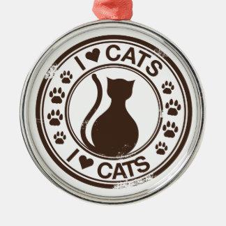 私は猫を愛します メタルオーナメント