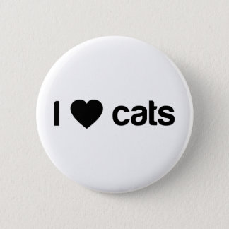 私は猫を愛します 5.7CM 丸型バッジ
