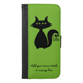 私は猫を愛します iPhone 6/6S PLUS ウォレットケース