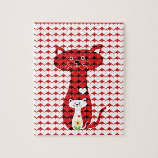 私は猫2を愛します ジグソーパズル