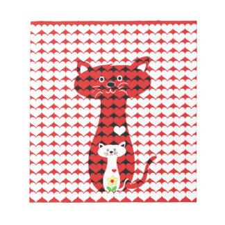 私は猫2を愛します ノートパッド