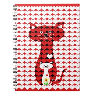 私は猫2を愛します ノートブック